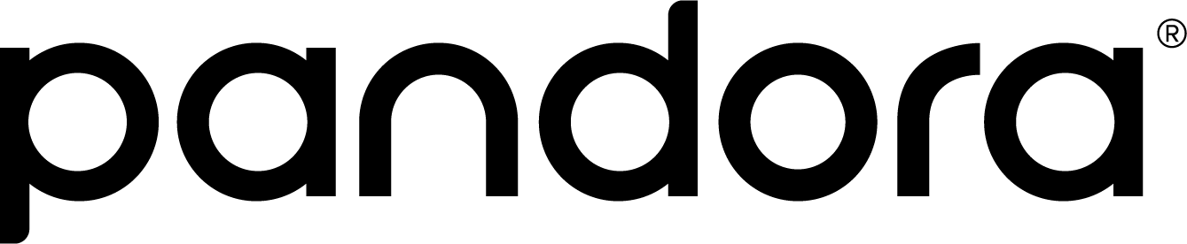 Pandora Wordmark Black